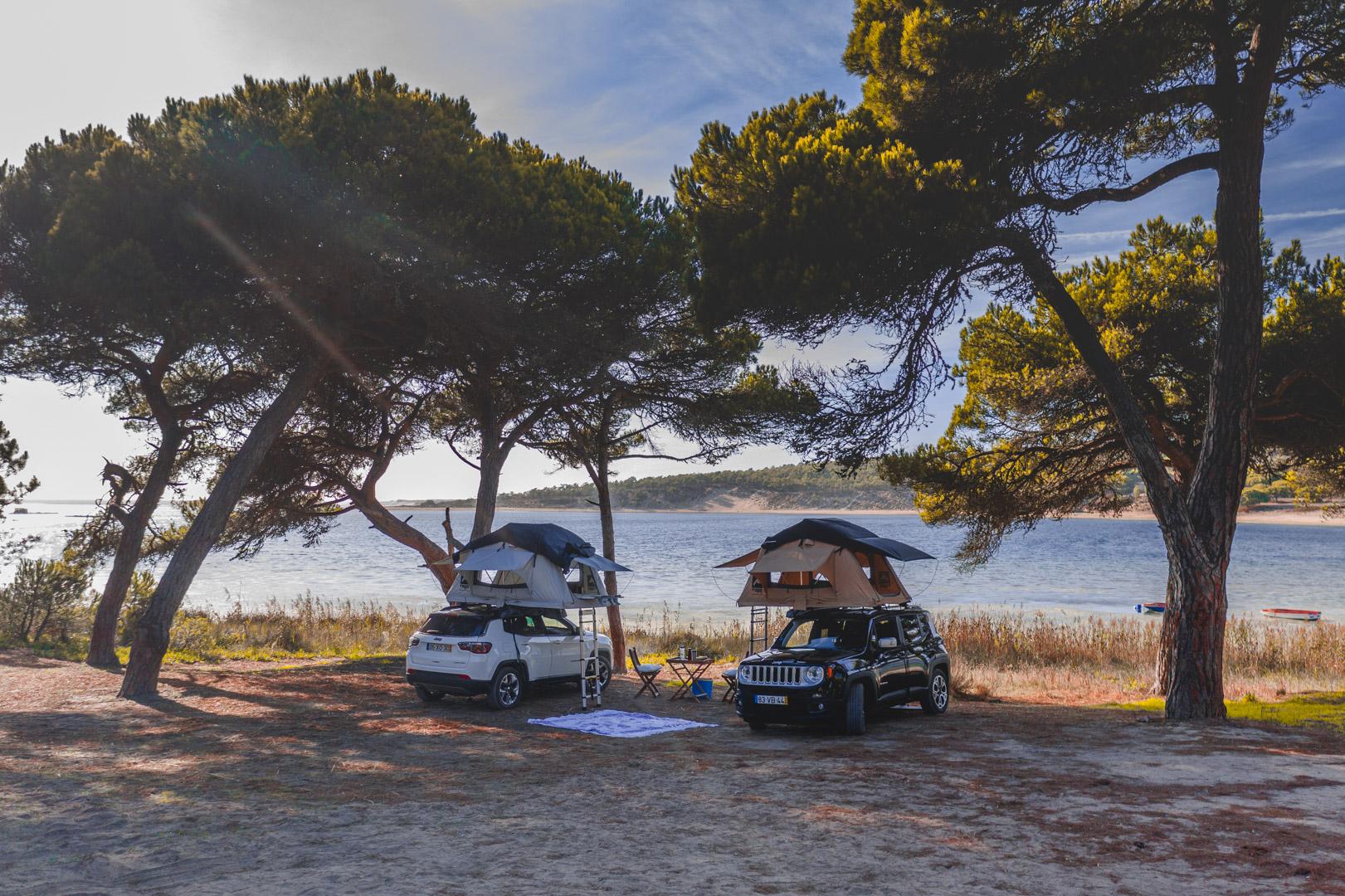Hertz E Jeep Lancam Servico De Aluguer De Tendas Rooftop
